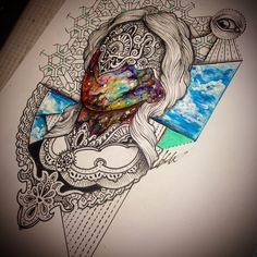 #tattoo #sketches #space #broslavskiy #a3metric #geometry #art