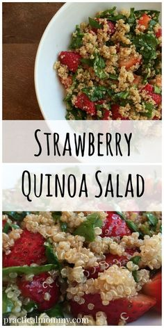 Strawberry Quinoa Salad - Recipe for a healthy summer salad featuring very few ingredients.