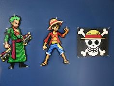 This is the second Biggest bead sprite that I put together. It came out to be roughly 20.5 inches tall and a little more than 14 inches wide. The ship is called the Thousand Sunny, its Luffy's Seco...