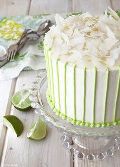 a taste of paradise!  |  Coconut Lime Cake by Tessa Huff  |  TheCakeBlog.com