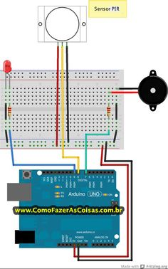 Alarme Arduino e Sensor de Movimentos PIR
