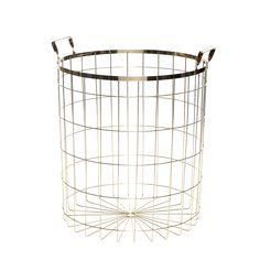 Hubsch Large Round Wire Basket - Large