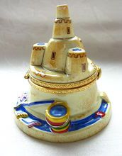 LIMOGES Sandcastle Box-Hand Painted & Numbered Limited Edition
