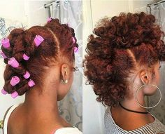 curly mohawk with red natural hair # Hair Care Protective Hairstyles For Natural Hair, Natural Hair Tips, Natural Hair Journey, Going Natural, Natural Red, Natural Mohawk Hairstyles, Natural Hair With Color, Beautiful Hairstyles, Natural Protective Styles
