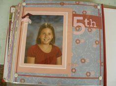 """5th grade""  school picture  scrapbook layout"