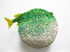 Shawn Smith Pixel Sculptures - Puff