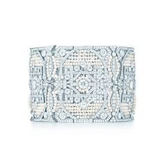 Tiffany & Co. | Item | The Great Gatsby Collection bracelet in platinum with diamonds and seed pearls. | United States