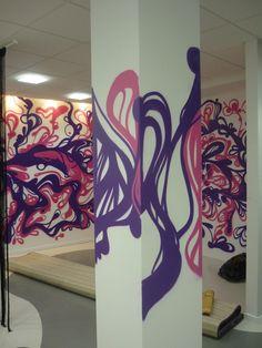 graffiti , street art kraków  . graffiti w biurze