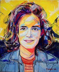 Portraits, Painting, Art, Linen Fabric, Acrylic Paintings, Woman, Head Shots, Painting Art, Paintings