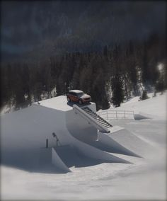 this is what i call an obstacle!  @Snowpark Kronplatz-Plan de Corones