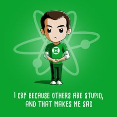 Other People Are Stupid - This official The Big Bang Theory t-shirt featuring Sheldon Cooper is only available at TeeTurtle!