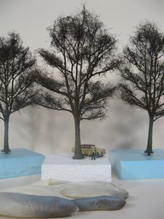 Model Tree, Architecture Sketchbook, Spur, Dremel, Model Trains, Scale Models, Diorama, Easy Diy, Miniatures
