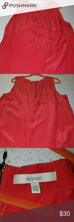 Orange Sejour sleeveless silk top Orange. Worn 2 times only. Silk. In excellent condition. Sejour Tops Tank Tops