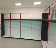 Přístěnné rámové a gondolové oboustranné regály typu SU5. Divider, Garage Doors, Outdoor Decor, Room, Furniture, Home Decor, Bedroom, Decoration Home, Room Decor