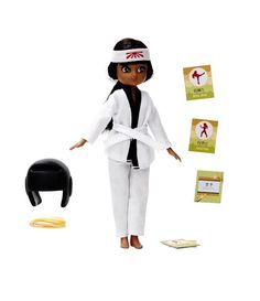Lottie doll with karate accessories