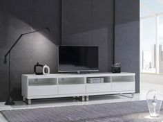 Quattro 4120+4120. Build the perfect TV unit to house all of your accessories, support your television, and frame a room with the modular range of Quattro TV units.