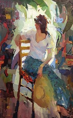 Woman with Backlight by Michael Steirnagle ~ 48 x 24 Painting People, Figure Painting, Portrait Art, Portraits, Arte Popular, Art Abstrait, Beautiful Paintings, Face Art, Figurative Art