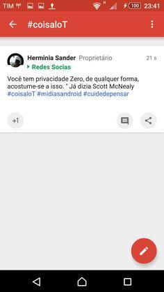 #coisaloT #midiasandroid #midiasemsocial #redesemsocial @Sander