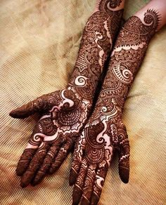 Stylish and fashionable henna mehndi designs and tattoos are in vogue. Check the trending henna designs for hands, wrist, leg and as temporary tattoos too.