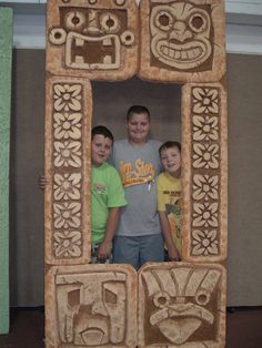 I carved this Indiana Jones temple entrance, out of home insulation styofoam for a VBS set design.