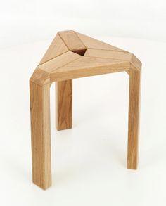 TRIO oak stool by Marcin Laskowski, via Behance