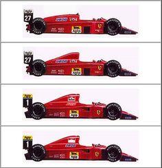ferrari f1 cars Evolución estética de los Ferrari de F1