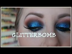 GLITTERBOMB TUTORIAL! BURNT ORANGE & BLUE - POW! - YouTube