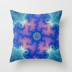 fractal_0007 Throw Pillow by fracts - fractal art - $20.00