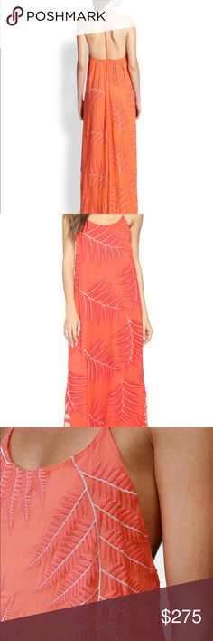"Alice + Olivia Kelly T-Back Maxi Dress, Coral Sexy and sweet in this 100% silk maxi dress. Worn once, at a wedding - in flawless condition. 57"" long. Size 8 but it's a loose fit and has an elastic gathered back so it can fit slimmer and larger sizes easily. Alice + Olivia Dresses Maxi"