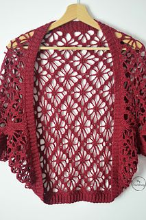 Meadow Lace Shrug free crochet pattern - Mycrochetory Meadow Lace Shrug - floral and stylish crochet shrug free pattern with zero shaping, decreasing or increasing and minima. Crochet Shrug Pattern, Crochet Cardigan, Crochet Shawl, Crochet Lace, Free Crochet, Crochet Shrugs, Crochet Style, Crochet Sweaters, Crochet Vests