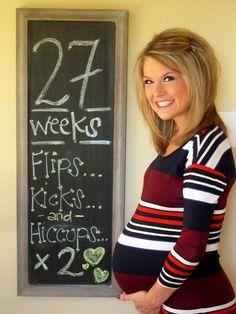 Bump Tracker: 27 Weeks with twins www.themasseyspot.blogspot.com