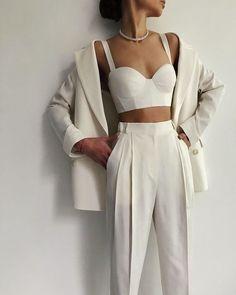 Suit Fashion, Look Fashion, Fashion Outfits, Fashion Design, Luxury Fashion, Travel Outfits, Korean Fashion, Dress Outfits, High Fashion