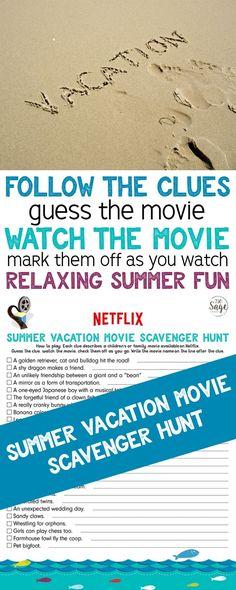 Netflix Summer Vacation Movie Scavenger Hunt https://www.730sagestreet.com/netflix-summer-vacation-movie-scavenger-hunt/ AD STREAMTEAM