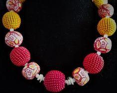 Individueller Modeschmuck von BabsyDesign auf Etsy Orange, Bunt, Etsy, Jewelry, Fashion, Necklaces, Fimo, Glass Beads, Chains