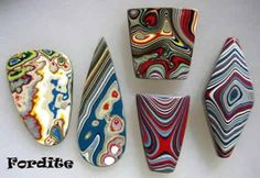 Fordite - Jewelry, Stones, Bookends