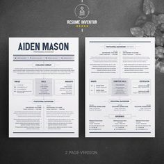 CV Resume Template Word 2 Page Resume Template Modern Modern Resume Template, Resume Template Free, Creative Resume Templates, Great Resumes, Templates Free, Free Resume, Cover Letter Template, Letter Templates, Create A Resume