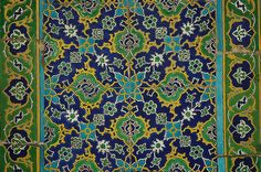 panel made of Iznik tiles outside the Audience Chamber - Topkapi Palace (Istanbul, Turkey)