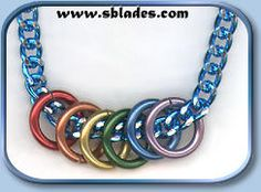 Chainmail & More Mini-rings pride necklace, Rainbow ring pride necklace Neck Chain, Rainbow Pride, Chain Mail, Rainbow Colors, Personalized Items, How To Make, Jewelry, Jewlery, Chain Letter