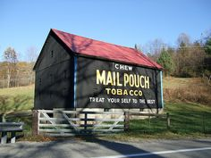 West Virginia Mail Pouch Barn a old Mail Pouch Tobacco barn on US 19, don't see too many of these any more.. There are however 2 of them on this road between Waynesburg, PA and Morgantown, WV