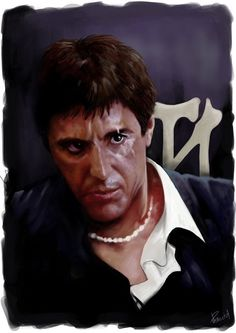 Scarface Scarface Poster, Scarface Movie, Gangster Quotes, Mafia Gangster, Best Movie Actors, Good Movies, Al Pacino, Scared Face, Woman Mechanic