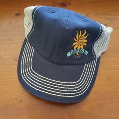 Bell's Brewing Oberon Ale Blue White Slouch Mesh Snapback Trucker Hat Cap New