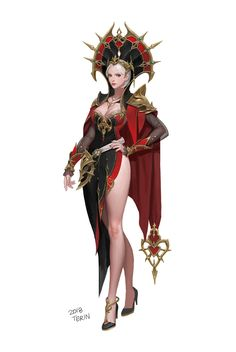 ArtStation - sorceress , terin kim My character's mother. Rocking the head piece. Fantasy Girl, Chica Fantasy, Fantasy Women, Dark Fantasy, Fantasy Character Design, Character Design Inspiration, Character Concept, Character Art, Fantasy Characters