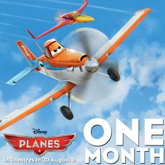 #DisneyPlanes takes off in theatres in just one month! Are you excited to see the film in 3D August 9th!