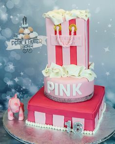 Pink victoria secret cake