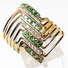 LeVian Tsavorite Garnet and Diamond Ring ~