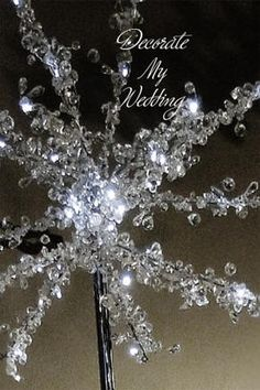 DECORATE MY WEDDING LED Beaded Tabletop Crystal Tree