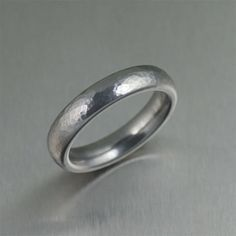 5mm Hammered Domed Stainless Steel Men's Ring by johnsbrana, $65.00