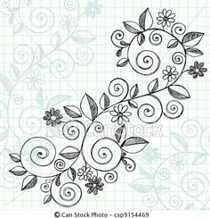 Vector - Sketchy Doodle Vines Vector Design - stock illustration, royalty free illustrations, stock clip art icon, stock clipart icons, logo, line art, EPS picture, pictures, graphic, graphics, drawing, drawings, vector image, artwork, EPS vector art