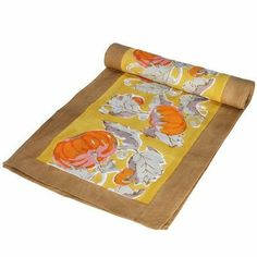 Pumpkin Orange Yellow Runner Size: 16 x 72 by Couleur Nature. $45.00. 28-41-66 Size: 16 x 72 Features: -Runner.-100pct cotton fabric.-Machine washable.-Matching tablecloths, napkins, placemats, towels and aprons are available. Options: -Available in 72' or 90'' depth sizes. Dimensions: -72'' Runner dimensions: 16'' W x 72'' D.-90'' Runner dimensions: 16'' W x 90'' D. Collection: -Pumpkin Orange Yellow collection.