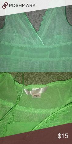 NWOT--VS LIME GREEN SHEER NIGHTIE Super cute nightie by VS... NEW NEVER WORN SIZE LARGE Victoria's Secret Intimates & Sleepwear